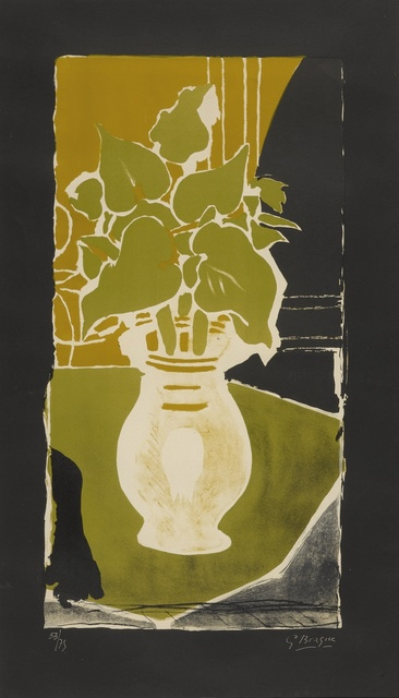 Georges Braque, 'Feuilles couleur lumière (Vallier 86)', 1953-54, Print, Lithograph printed in colors, Sotheby's