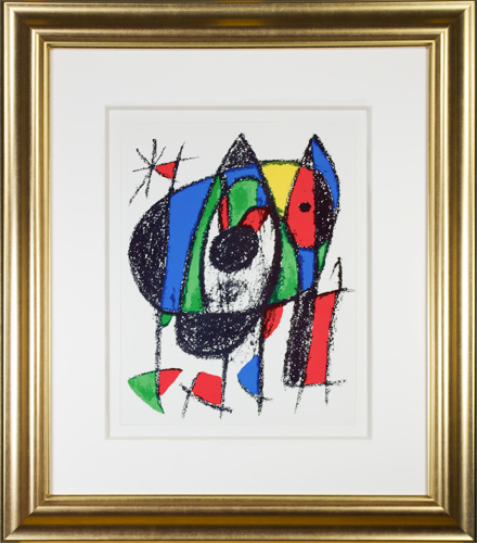 ", 'Original Lithograph V from ""Miro Lithographs II, Maeght Publisher"",' 1975, David Barnett Gallery"