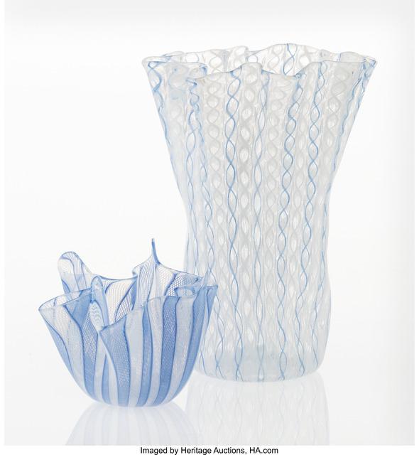 Paolo Venini, 'Two Fazzoletto Handkerchief Vase', circa 1947-1966, Heritage Auctions