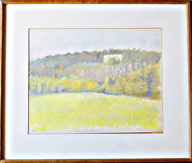 , 'Secret Meadow (signed twice with unique personal inscription to renowned art critic, with signed letter of provenance),' 1974, Alpha 137 Gallery