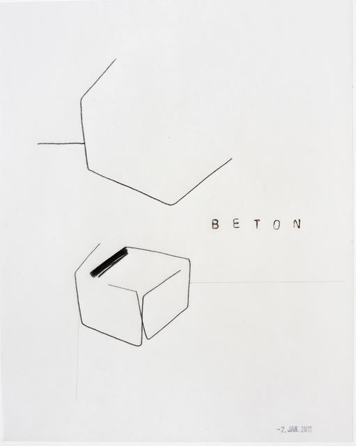 , 'Beton,' 2018, Galerie Heike Strelow
