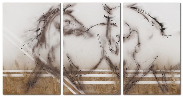 , 'Two Horses (Tryptich),' 2018, THE WHITE ROOM GALLERY