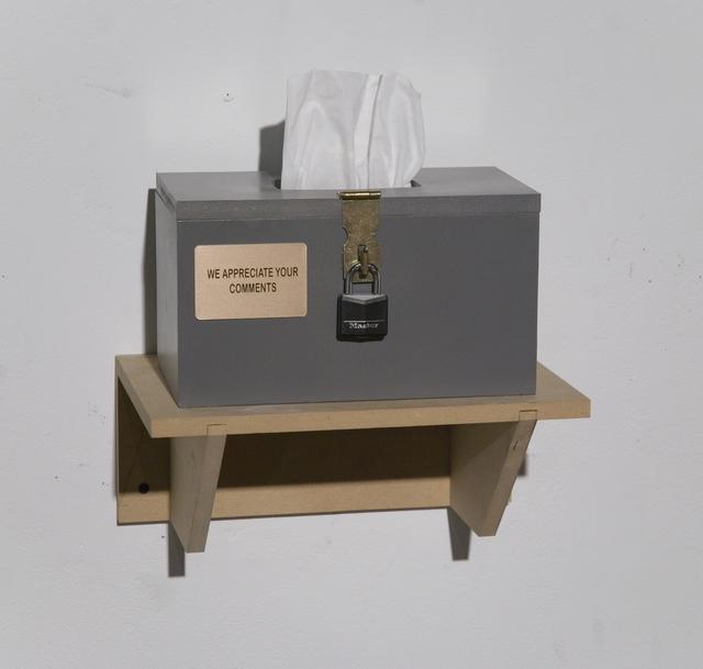 , 'Tissue Box,' 2014, Galleri Urbane