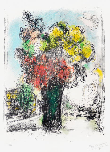 Marc Chagall, 'Le Bouquet Rouge et jaune (Red and Yellow Bouquet)', 1974, Masterworks Fine Art