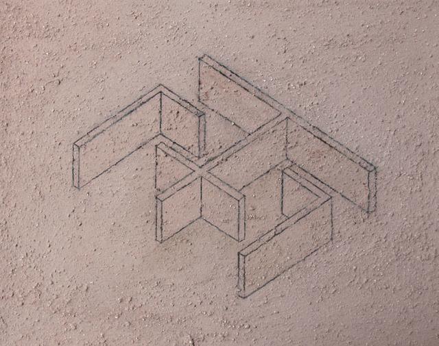 Ximena Garrido-Lecca, 'Arquitectura del Humo (Boceto IV)', 2015, 80M2 Livia Benavides