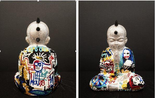 """, 'PUNKBUDDHA Small """"SWEET LOVE"""" feat. Basquiat,' 2019, Galerie de Bellefeuille"""