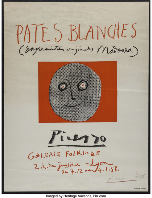 Pablo Picasso, 'Pates blanches', 1958, Print, Offset lithograph in colors on paper, Heritage Auctions