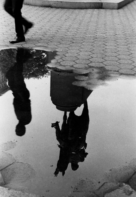 , 'Puddle and Reflection of Statue, Union Square,' 1970, Bruce Silverstein Gallery
