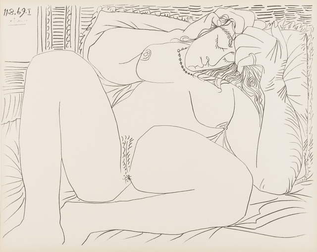 Pablo Picasso, 'Femme Nue, nos. 11.8.69, nos. I & VI', 1969, Print, Two lithographs, Forum Auctions