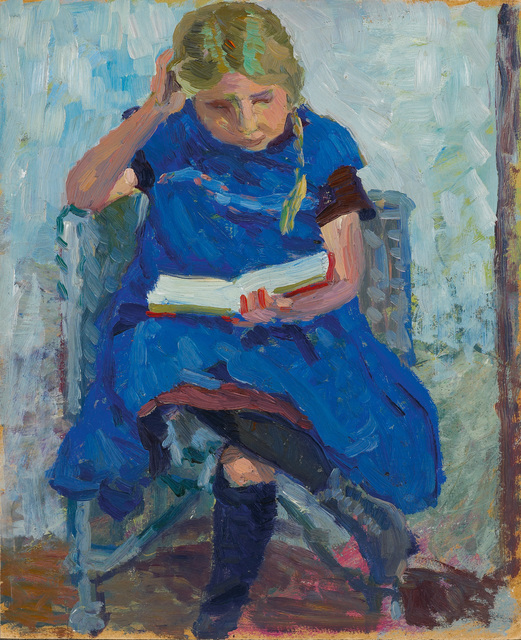 , 'Lesendes Mädchen (Girl reading),' ca. 1905, Galerie Herold