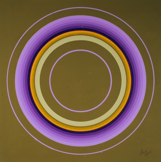 Antonio Asis, 'Untitled from the series Cercles Concentriques', 2010, Painting, Gouache on cardboard-canvas, Sicardi | Ayers | Bacino