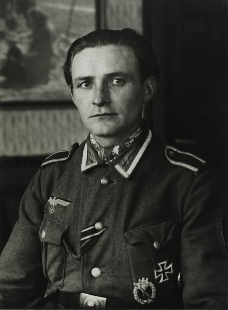 August Sander, 'Non-commissioned Officer, c. 1944', Galerie Julian Sander