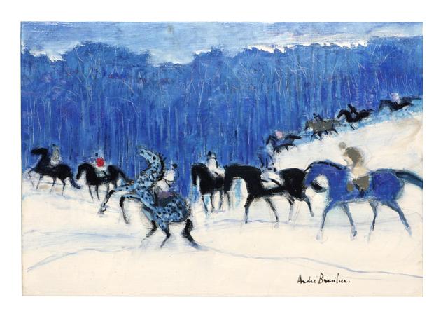 , 'Petits cavaliers en forêt bleue,' 2014, Opera Gallery