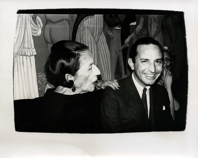 Andy Warhol, 'Diana Vreeland with Fred Hughes ', ca. 1984, Hedges Projects