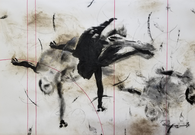 Riaan van Zyl, 'Fluid III', 2019, Painting, Old car oil, anthracite, oil, charcoal, chalk and pastel on canvas, ARTsouthAFRICA