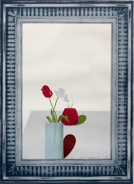 David Hockney, 'Picture of a still life in an elaborate silver frame', 1965, Sims Reed Gallery