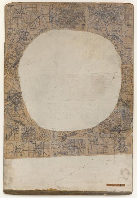 Robert Rauschenberg, 'Mother of God', ca. 1950, Painting, Oil, enamel, printed maps, newspaper, and metallic paint on Masonite, San Francisco Museum of Modern Art (SFMOMA)