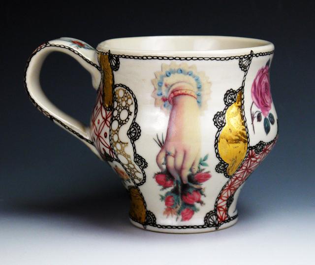 Melanie Sherman, 'Kaffee Tasse (coffee cup), handpainted porcelain', 2017, Cerbera Gallery