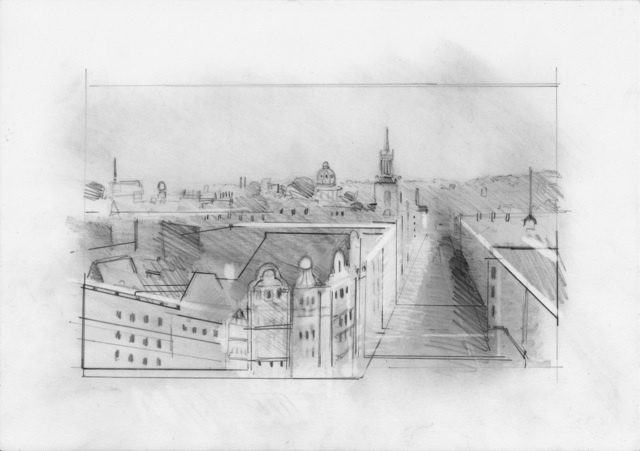 , 'Oxford Drawing #8 View From Carfax,' 2017, Sarah Wiseman Gallery