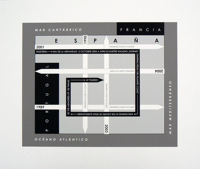 Hamish Fulton, '6 Walks Map Iberian Peninsula', 1989-2005, Rhona Hoffman Gallery