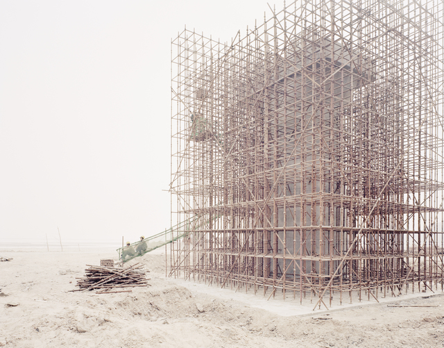 , 'Workers Building Bridge Piers for a High-Speed Railway, Shaanxi,' 2011, Beetles + Huxley