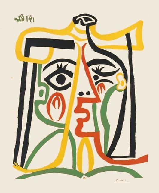 , 'Portrait de Jacqueline au Chapeau de Paille ,' 1962, Surovek Gallery
