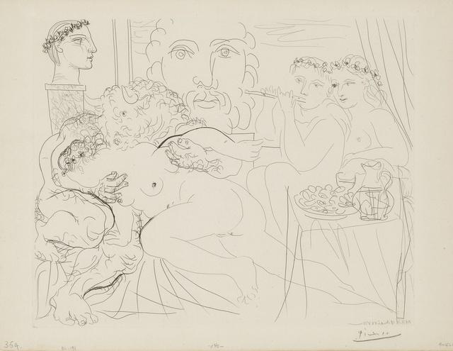 Pablo Picasso, 'Minotaure caressant une femme (B. 191; Ba.350)', 1933, Print, Etching, Sotheby's