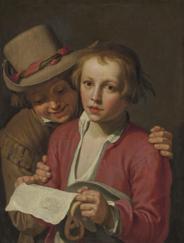 Abraham Bloemaert, 'Two boys singing', Likely ca. 1625, Christie's Old Masters
