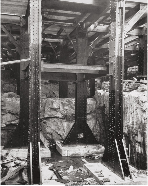 Berenice Abbott, 'Rockefeller Center Going Up', 1922, Heritage Auctions