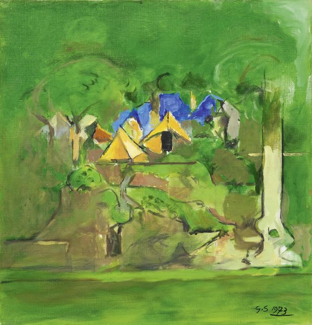 Graham Sutherland, 'Study: The Camp', 1973, Painting, Oil on canvas., Koller Auctions