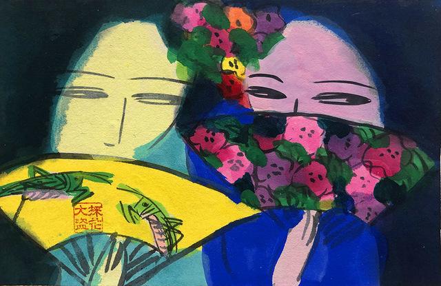 , 'Two Girls Gossiping,' 1990s, Alisan Fine Arts