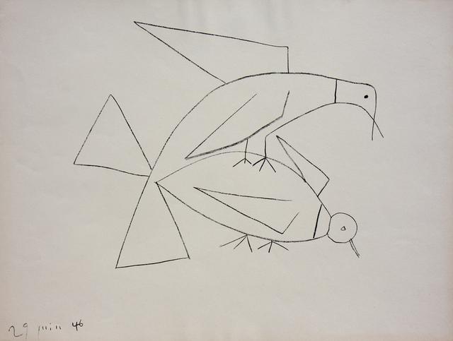 Pablo Picasso, 'Les Deux Tourterelles II (B. 406)', 1946, Denis Bloch Fine Art