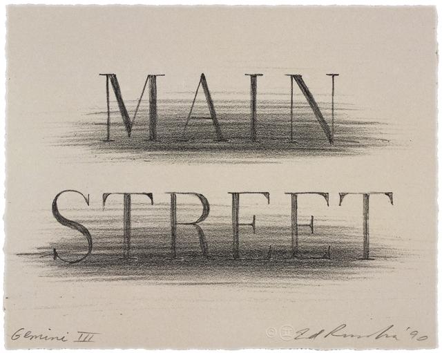 , 'Main Street,' 1991, Gemini G.E.L. at Joni Moisant Weyl