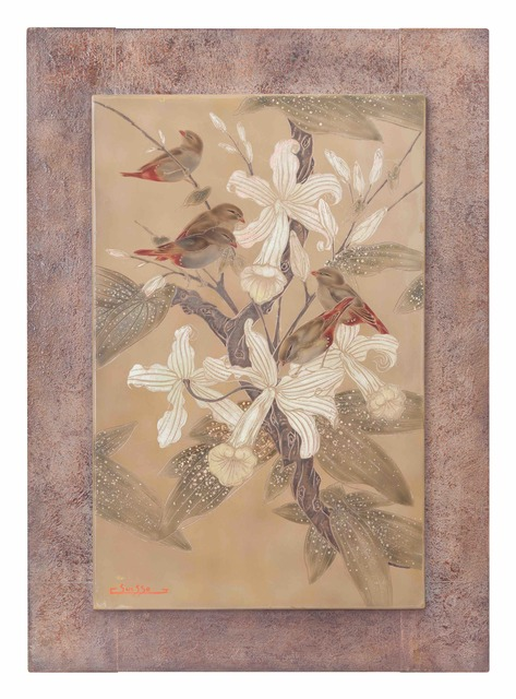 , 'Waxbills in Vanilla Flowers,' 1935, Galerie Dumonteil