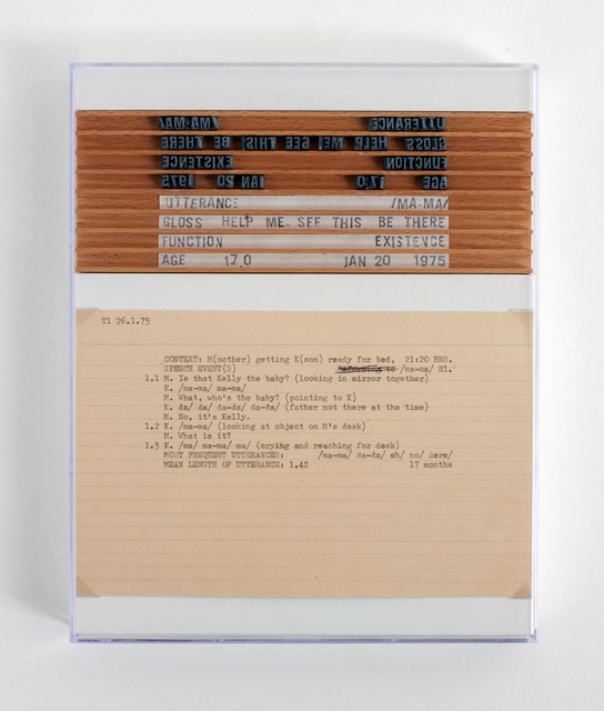 , 'Post-Partum Document: Documentation II, Analysed Utterances and Related Speech Events (second version),' 1975-2016, Pippy Houldsworth Gallery
