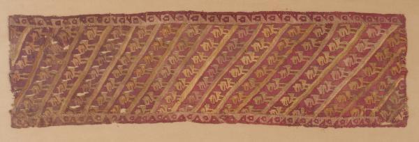 , 'Diagonal Birds Textile,' 900-1470, Muzeion Gallery