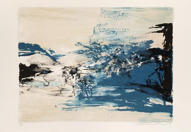 Zao Wou-Ki 趙無極, 'Senza titolo', 1986, Print, Color silkscreen, Il Ponte