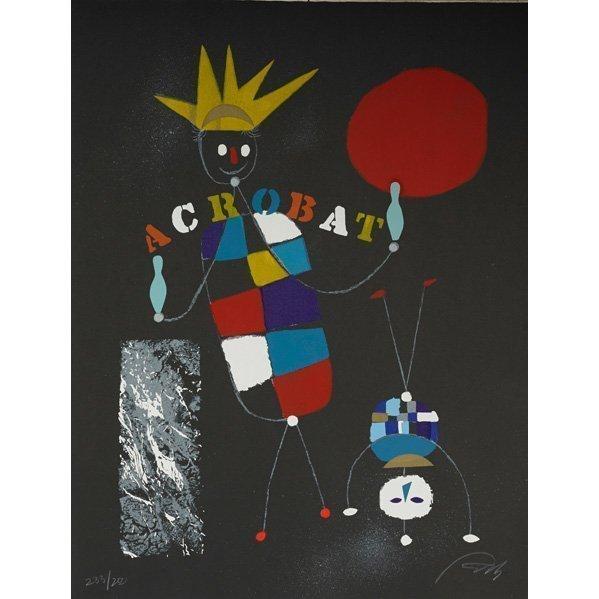 Wolfgang Roth, 'Rare Wolfgang Roth Dada Bauhaus Circus Silkscreen Print 6', 20th Century, Lions Gallery