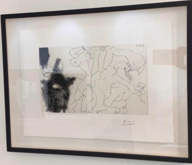 Pablo Picasso, 'Artist Painting Nudes in Motion', 1968, Drawing, Collage or other Work on Paper, Aquatint and dry point etching on vellum paper, Cris Contini Contemporary