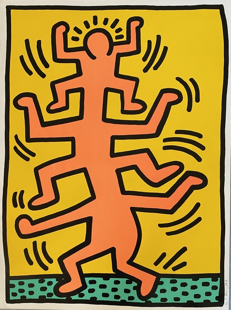 Keith Haring, 'Growing  Plate I', 1988, Print, Screenprint in colors on wove paper, Fine Art Mia