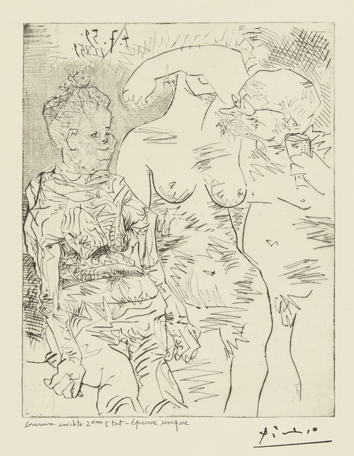 Pablo Picasso, 'Sabartés avec deux femmes: eight states (Ba. 1060)', 1959-60, Print, Eight drypoint, etching and engravings, Sotheby's