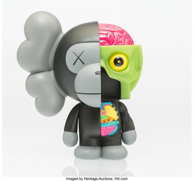 KAWS, 'Dissected Milo (Black)', 2011, Sculpture, Painted cast vinyl, Heritage Auctions