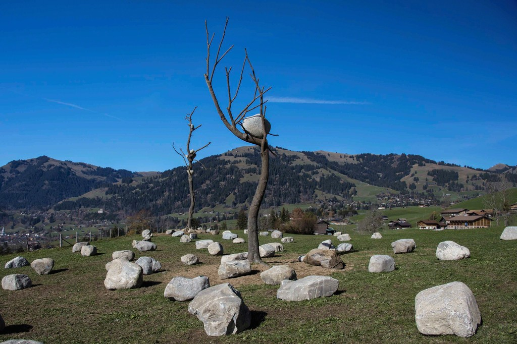 """Giuseppe Penone: Idee di Pietra,"" installation in Gstaad, Switzerland, 2017. Artworks © Giuseppe Penone. Photo by Marcus Veith."