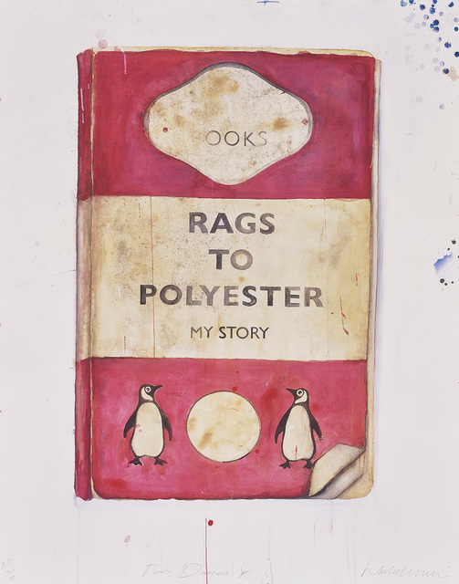 Harland Miller, 'Rags to Polyester', 2014, Print, Giclée print in colours, on German etching paper, the full sheet., Phillips