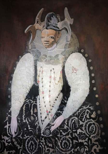 Wole Lagunju, 'Belle of the hearth', 2014, Ed Cross Fine Art