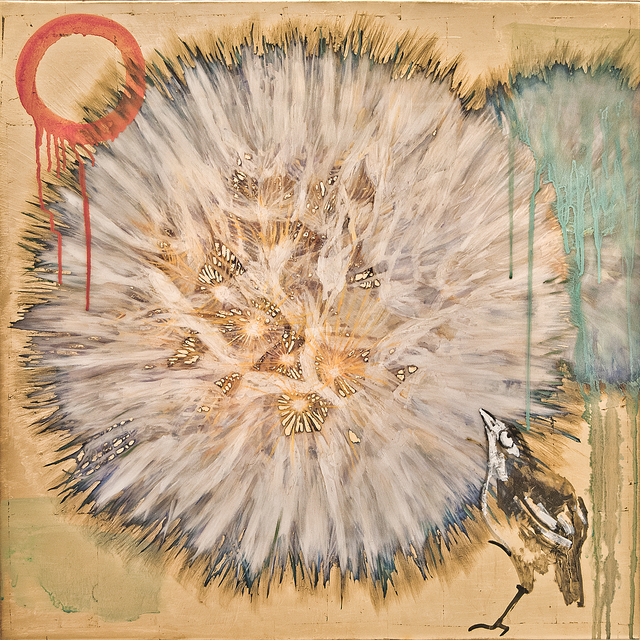 , 'Dandelion with Bird,' 2016, Turner Carroll Gallery