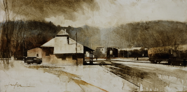 , 'Railyard, March Afternoon,' , West Branch Gallery
