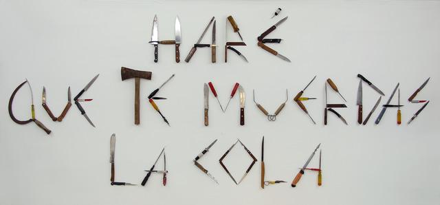 , 'Haré que te muerdas la cola,' 2014, Arróniz Arte Contemporáneo