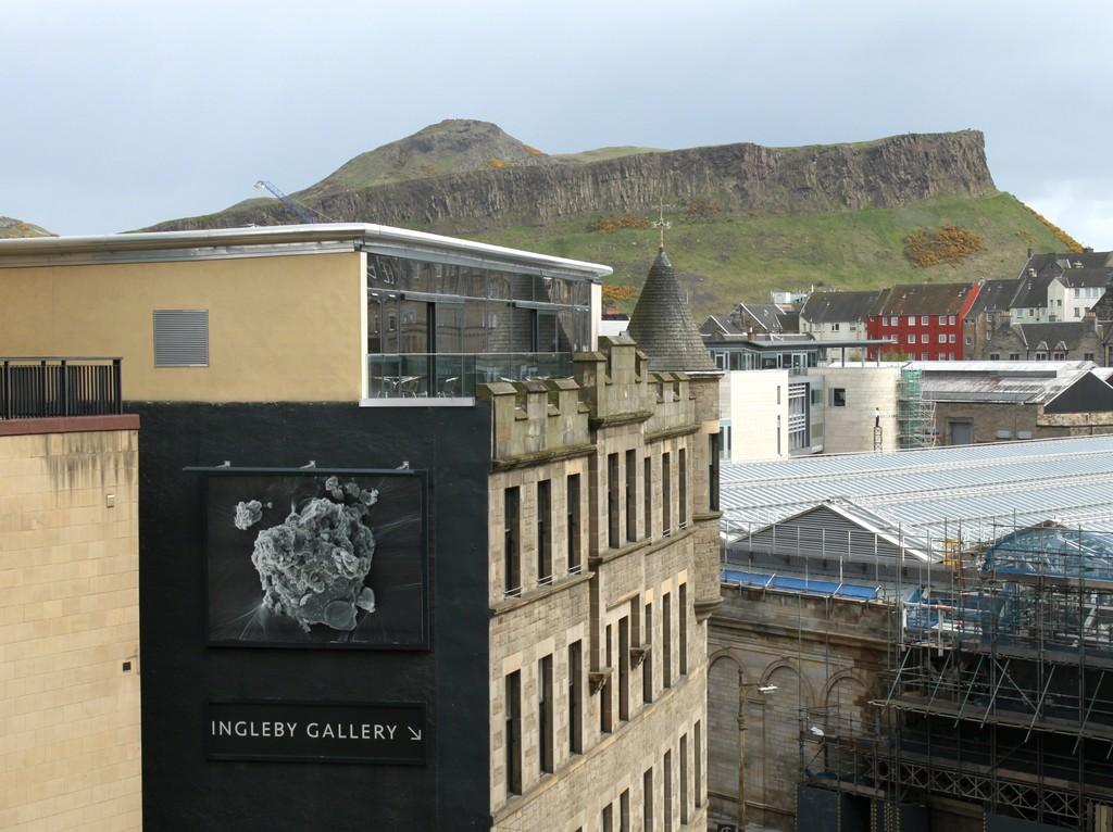 Installation view of Anya Gallaccio 'Arthur's Seat', 2012 13.3ft x 10ft billboard installation 24 April 2012 - 31 July 2012