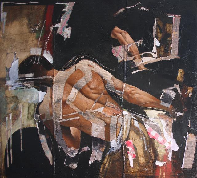 , 'Man Pulling Bicycle Cart,' 2015, Jill George Gallery